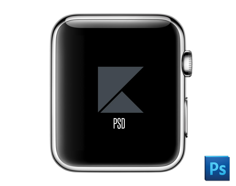 Free Apple Watch Face Mock Up PSD