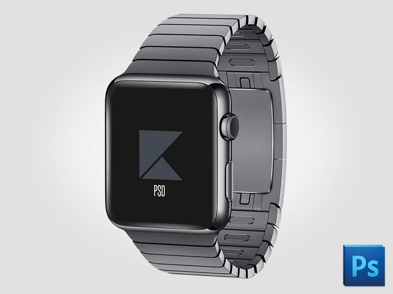 Free Apple Watch Gray Mockup PSD